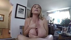 Step mom and son. Milf with big tits and big ass. Cumshot