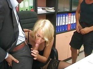 blond italian fuck with 2 guys