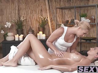 Cynthia and Tracy get nasty after massage session