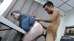 Daddy Barebacks Asian Twink Jordan