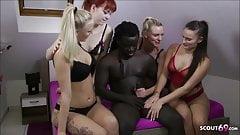 REVERSE GANGBANG - German Anny Aurora Dirty Tina in FFFM Sex