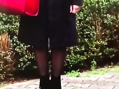 Slut gurbet turkish woman in shiny black pantyhose Thumbnail