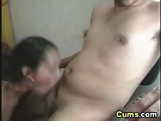 Latina couple homemade fuck