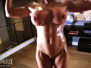 Female butt nude - Female bodybuilder nude muscle workout