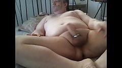 man masturbating