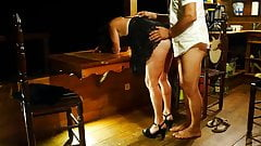 My wife fucked by her lover-cuckold gets facesitting