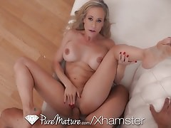 PureMature MILF Brandi Love fucked with dripping creampie