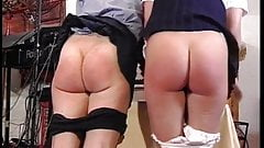 British professor spanks two naughty girl students