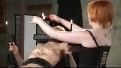 Femdom Hot Waxes Her Bound Femsub