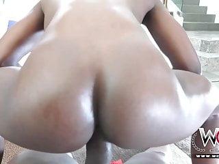WCP CLUB Sexy Ebony Ana Foxxx riding Lexington
