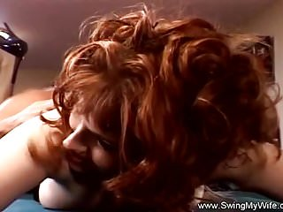 Preview 2 of Redhead Swinger MILF Goes Crazy For Rough Sex