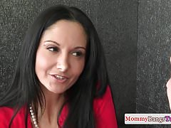 Stepmom Ava Addams fucked in ffm with teen