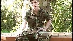 Army Boy Cums Hard on Camera Lenses