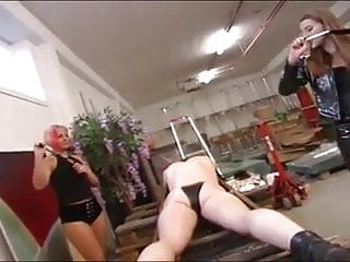 Mistress and her sidekick dominate a slave