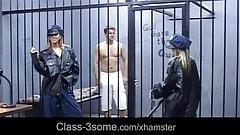 Handsome prisoner used for fuck by horny females