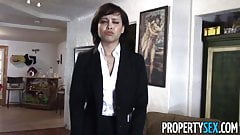 PropertySex - Cute realtor makes dirty sex video with client