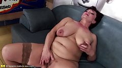 Mature queen mom gets her puss