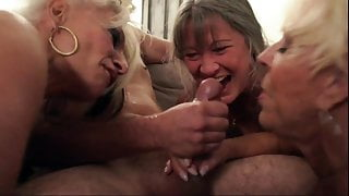 Hungry milf blows the electrician