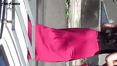 gostosinha com vestido vermelho