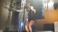 Dancing girls upskirt, showing panties