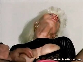 Iam Pierced Granny With Pussy Piercings Fucking In The Car
