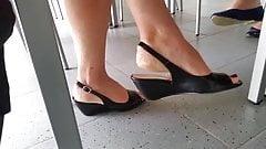 Candid feet secretary