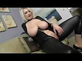 BBW Blonde - JOI in Latex Catsuit