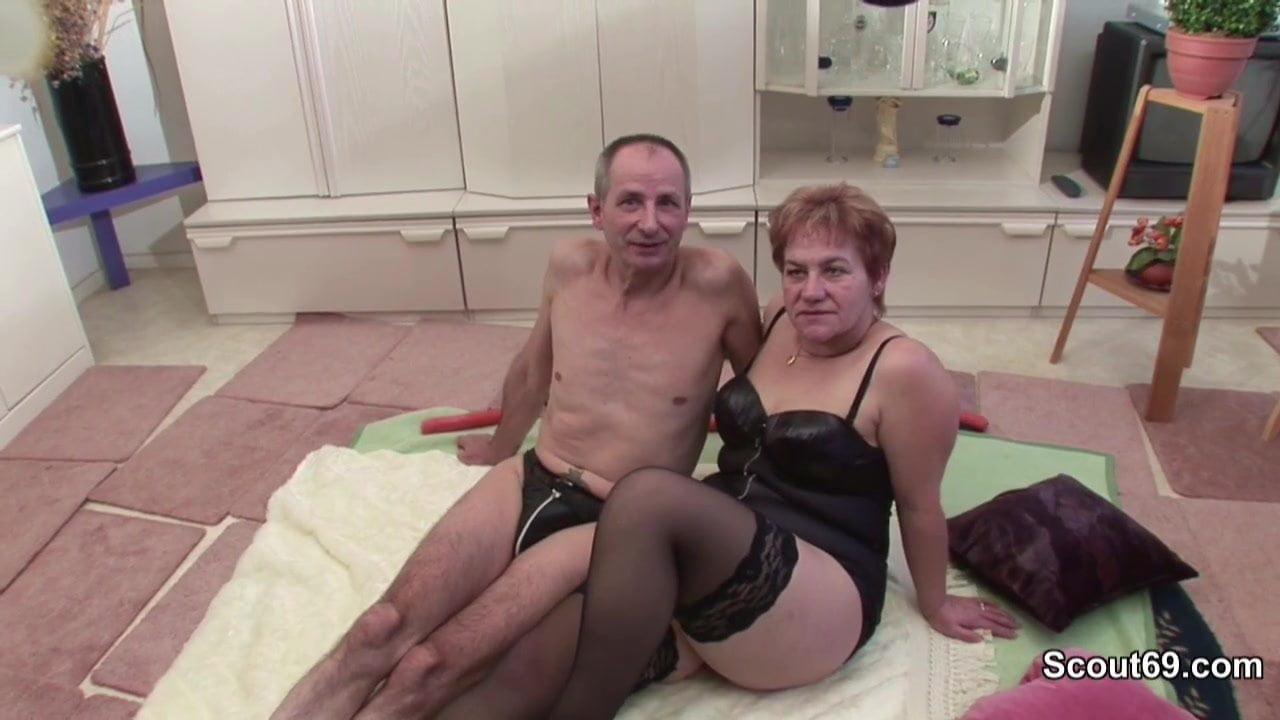 Oma und Opa beim Porno Casting