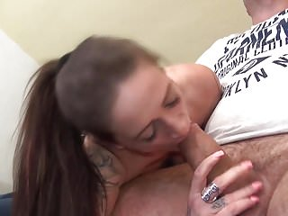 Mature kinky MILF suck and fuck fat cock