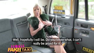 Female Fake Taxi Pussy licking and dildo fucking orgasms