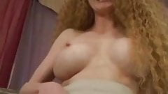 Redhead Hairy Amateur Solo Red Haired Pussy Carpet Matches the Drapes