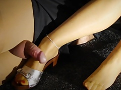 teacher worshiping feet in laces licking toes stockings