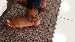 Candid ebony feet in macys