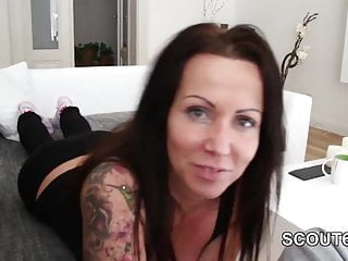 German mother with big tits seduce not Step-Son to fuck