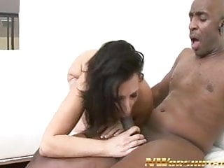 sexy hot milf rides and fucks a big black cock interracial