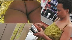 Ebony with ass under summer of milf with afro