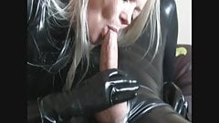 Latex cum on her face