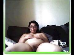 unaware fat bbw whore wife anal masturbation in webcam