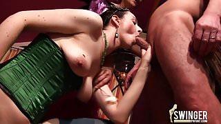Carnival girls in swinger club