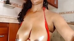 Colombian natural big tits