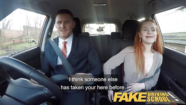 Preview 1 of Fake Driving School Ella Hughes Fails her Test on Purpose