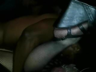 BBC Fucking White Whore In Theater While Boys Watch