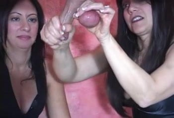 Two milf milking cocks join. And