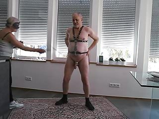 Severe cock and ball whipping by my lady.