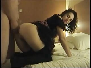 Hot Amateur Brunette gets pussy and ass fucked