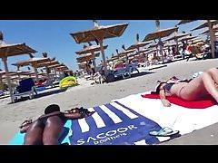 Spy beach black woman ass romanian