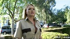 Brazzers - Big-tit blond Krissy Lynn fucks cop in uniform