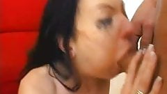 Two Filthy Whores getting Rough Face Fuck