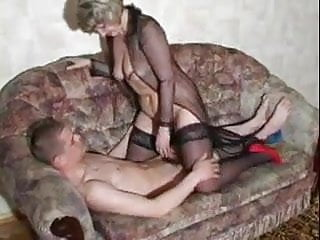 Mature woman with younger man