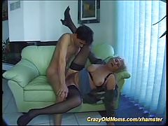 busty  hairy german grandma loves a young boy